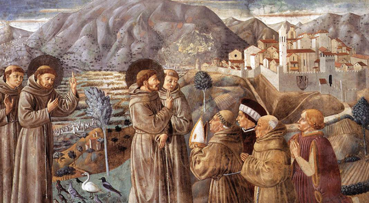 Scenes from the Life of Saint Francis (Scene 7), by Benozzo Gozzoli