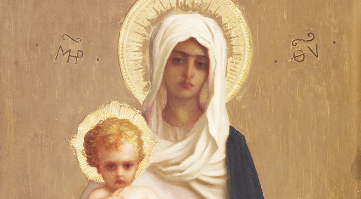 Painting of the Madonna and Child