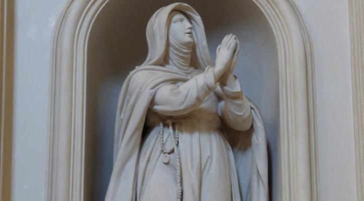 Statue of Saint Angela of Foligno (as a Blessed)