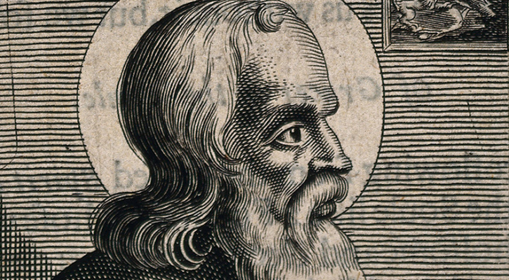 Engraving of Saint Polycarp | Saint of the Day