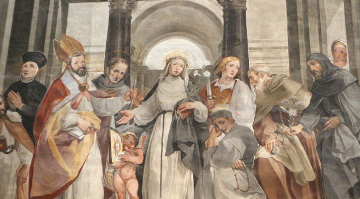 Painting of Saint Catherine of Siena, Siena Cathedral Choir