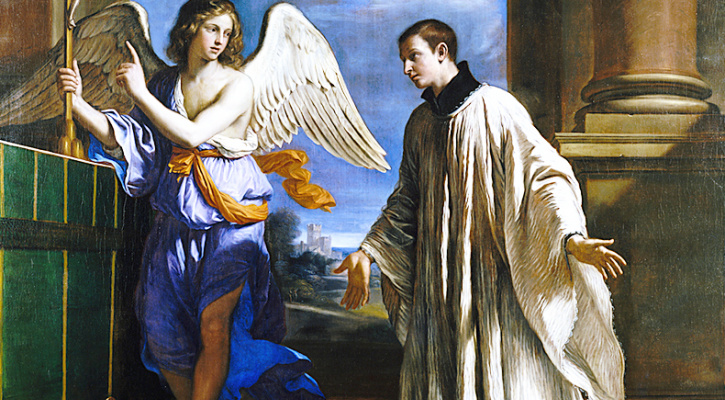 Painting titled The Vocation of Saint Aloysius Gonzaga