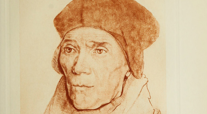 "Drawing of Saint John Fisher from the book ""The Life and Death of Cardinal Wolsey"""