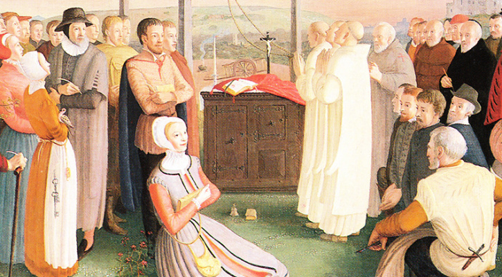 Mural depicting the 40 martyrs of England and Wales including St. John Jones and St. John Wall