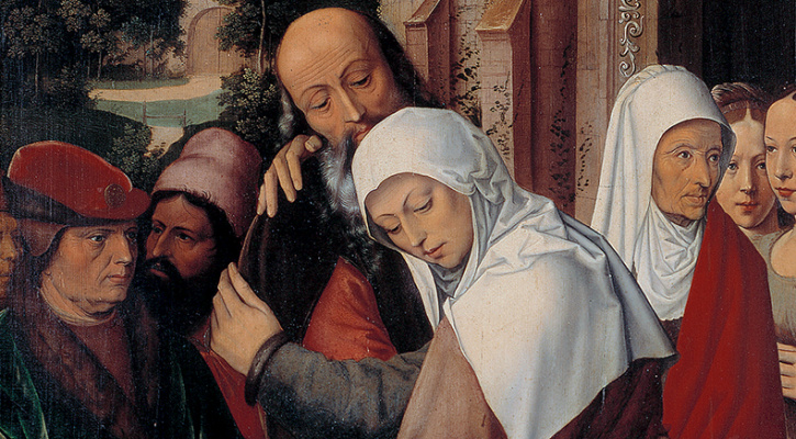 Painting depicting Sts. Joachim and Anne, parents of the Blessed Virgin Mary