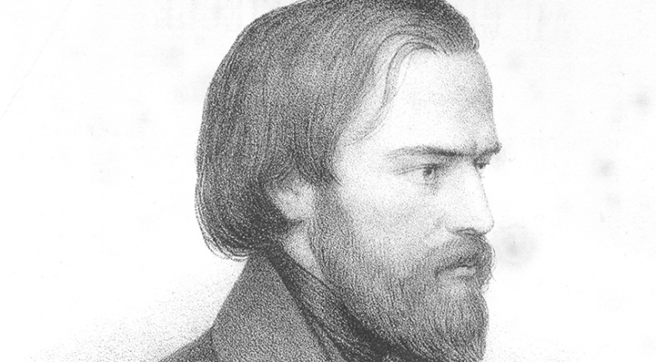 Pencil sketch of Blessed Frederic Ozanam