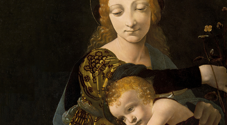 Painting depicting the Madonna and Child