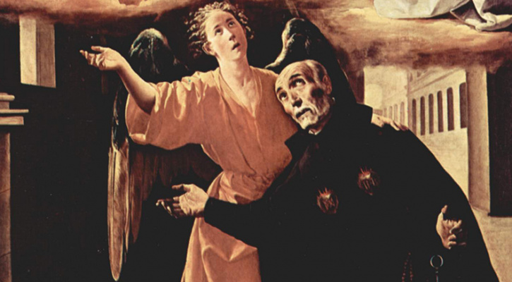 Painting titled Vision of Alphonsus Rodriguez, by Francisco de Zurbarán