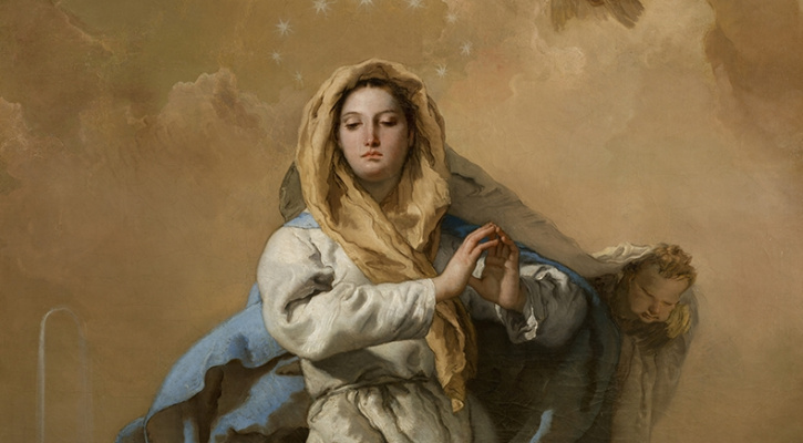 Painting titled The Immaculate Conception, by Giovanni Battista Tiepolo