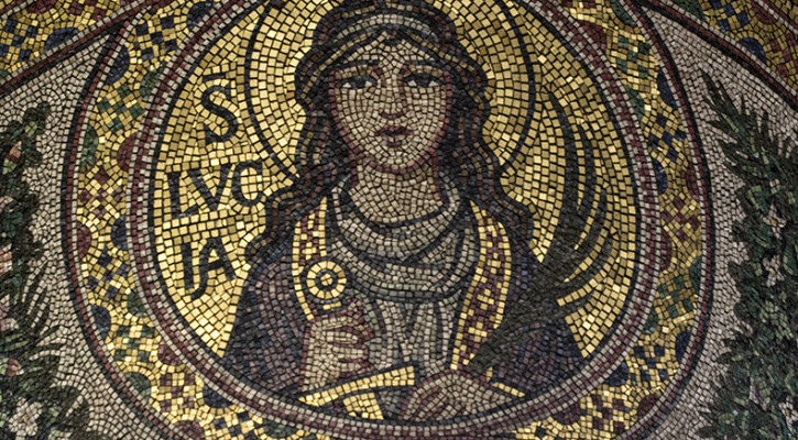 Wall mosaic of Saint Lucy