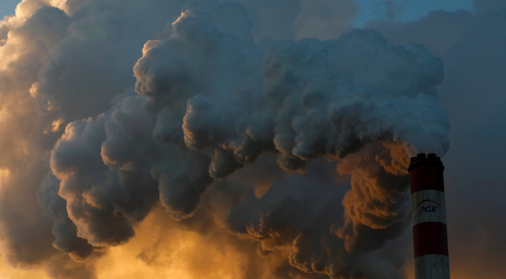 Smoke and steam billow from a coal plant in Belchatow, Poland, Nov. 28, 2018. (CNS photo/Kacper Pempel, Reuters)