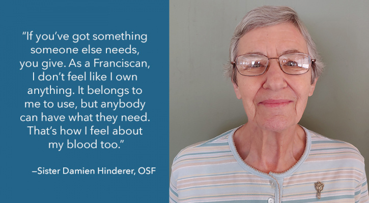 Followers of St. Francis: Sister Damien Hinderer, OSF