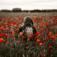 A young girl in a field of poppies | Photo by Jamie Street on Unsplash